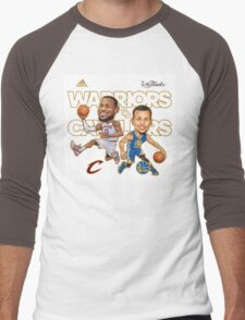 Warriors Vs Cavaliers Men's Baseball ¾ T-Shirt