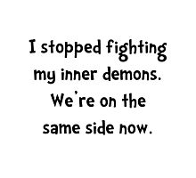 Inner Demons Photographic Print