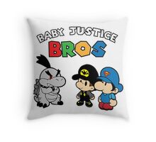 Baby Justice Bros. Throw Pillow