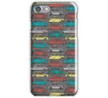 Cute hand-drawn retro cars iPhone Case/Skin
