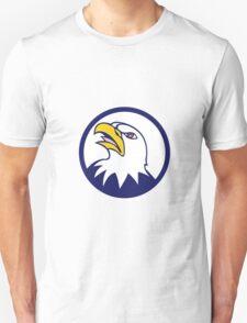 Bald Eagle Head Angry Looking Up Circle Cartoon Unisex T-Shirt