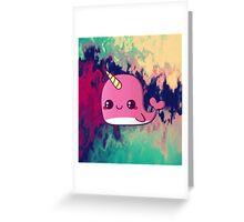 kawaii narwhale  Greeting Card
