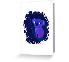 Space Koala Greeting Card