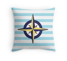 Sailor's Compass Throw Pillow
