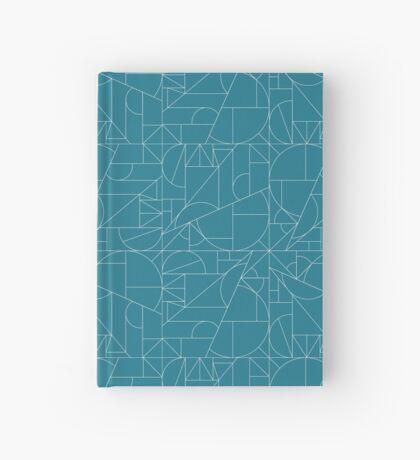 geometric line pattern Hardcover Journal