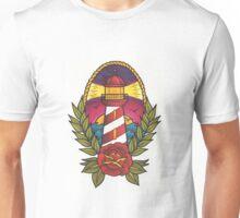 Traditional Tattoo Lighthouse Design.  Unisex T-Shirt