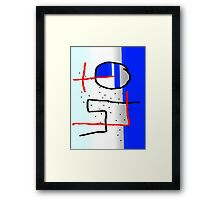 spots on a blue abstract Framed Print