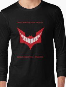 Joker behind Batman Long Sleeve T-Shirt
