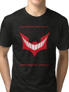 Joker behind Batman Tri-blend T-Shirt