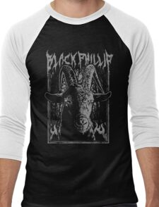 Black Metal Phillip Men's Baseball ¾ T-Shirt
