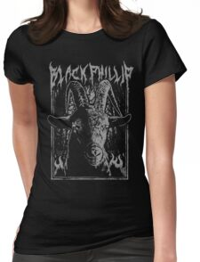 Black Metal Phillip Womens Fitted T-Shirt