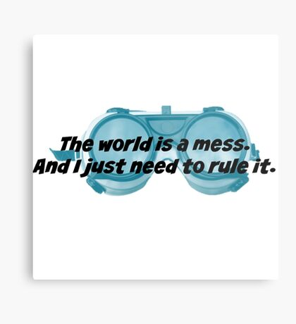 The World is a Mess...Dr. Horrible Metal Print