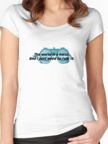 The World is a Mess...Dr. Horrible Women's Fitted Scoop T-Shirt
