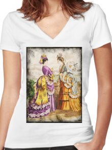 FASHIONABLE LADIES VINTAGE 46 Women's Fitted V-Neck T-Shirt