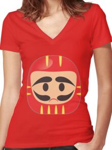 Daruma Women's Fitted V-Neck T-Shirt
