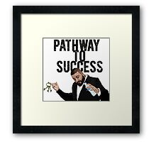Pathaway to Success Framed Print