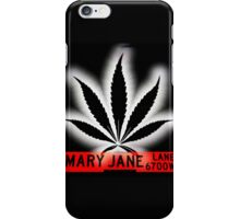 Mary Jane Lane - Black Leaf iPhone Case/Skin