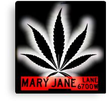 Mary Jane Lane - Black Leaf Canvas Print