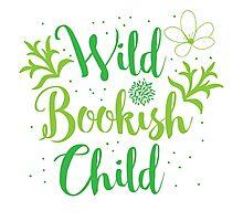 Wild bookish child Photographic Print