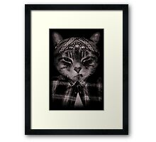 Gangster Cat (Platinum) Framed Print
