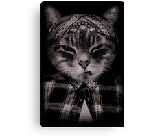 Gangster Cat (Platinum) Canvas Print