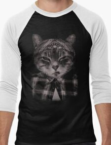 Gangster Cat (Platinum) Men's Baseball ¾ T-Shirt