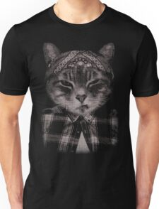 Gangster Cat (Platinum) Unisex T-Shirt