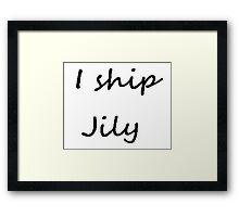 I ship Jily (Cursive) Framed Print