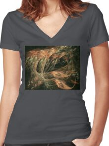 Sting Ray Women's Fitted V-Neck T-Shirt