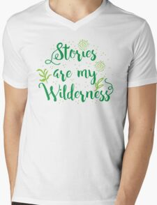 Stories are my Wilderness Mens V-Neck T-Shirt
