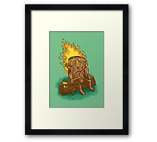 Bad Day Log Framed Print