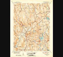 USGS TOPO Map Connecticut CT Woodbury 461087 1950 31680 Unisex T-Shirt