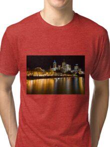 Evenings on the Yarra - Melbourne Australia Tri-blend T-Shirt