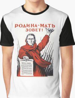 Soviet Poster: Родина-мать зовет! Graphic T-Shirt