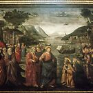 Christ beside sea of Galilee, Sistine Chapel Vatican Museum Rome Italy 19840718 0048 by Fred Mitchell