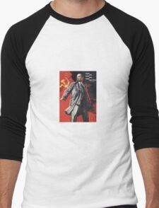 Soviet Poster: Lenin  Men's Baseball ¾ T-Shirt