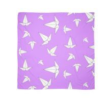 Origami Peace Cranes - Lilac Scarf