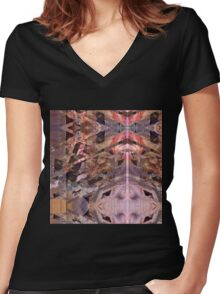 Abandon #3 Women's Fitted V-Neck T-Shirt