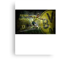 Pierre Emerick Aubameyang Borussia Dortmund 17 Canvas Print