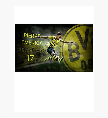 Pierre Emerick Aubameyang Borussia Dortmund 17 Photographic Print