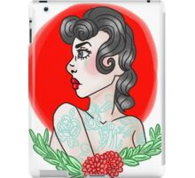 American Traditional Tattoo Girl iPad Case/Skin
