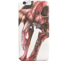 Red Saber Tooth Tiger Skull iPhone Case/Skin