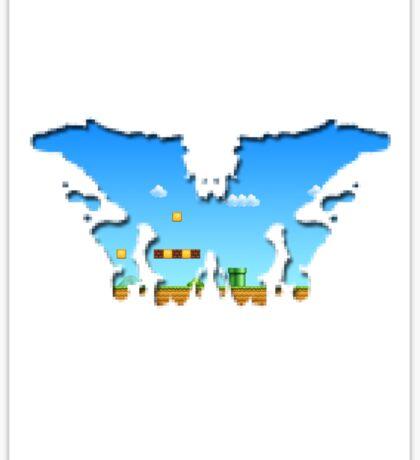 Mario Rorschach 8-bit Sticker
