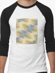 Chic fresh summer colors design hand made with golden pigment and ink Men's Baseball ¾ T-Shirt