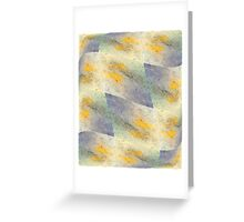 Chic fresh summer colors design hand made with golden pigment and ink Greeting Card