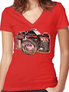 Canon Women's Fitted V-Neck T-Shirt