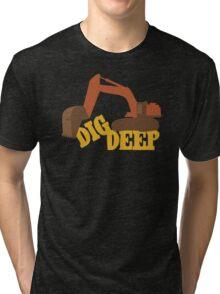 Dig Deep Gold Rush Tri-blend T-Shirt
