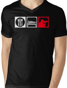 Eat, Sex, Shoot Mens V-Neck T-Shirt