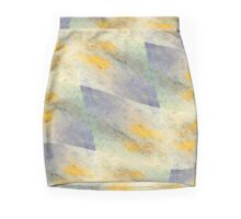 Chic fresh summer colors design hand made with golden pigment and ink Mini Skirt