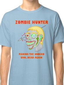 Zombie Hunter Funny Cartoon Walker Zombie Head Classic T-Shirt